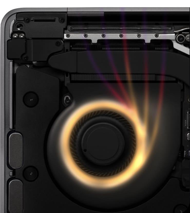 Охлаждение MacBook Pro