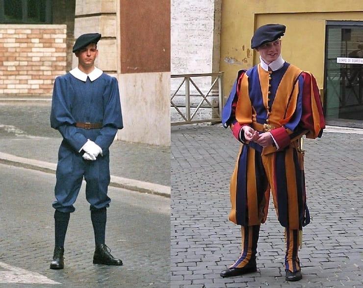 Повседневная и парадная форма швейцарского гвардейца