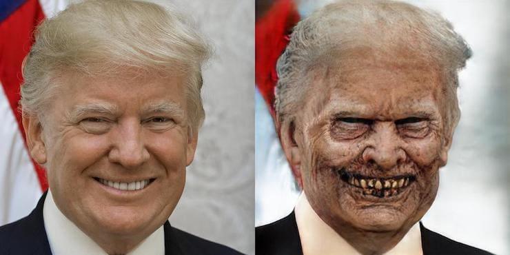 Как превратить лицо на фото в зомби