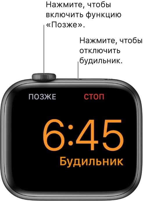 Будеильни в ночной режим на Apple Watch