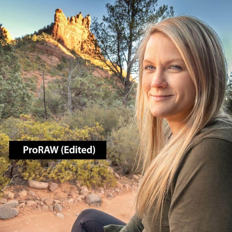 ProRAW в камере iPhone