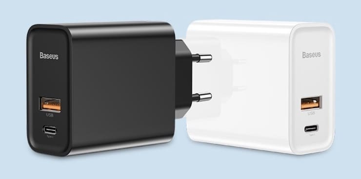 USB-C адаптер питания Baseus BS-EU905 на 30 Вт