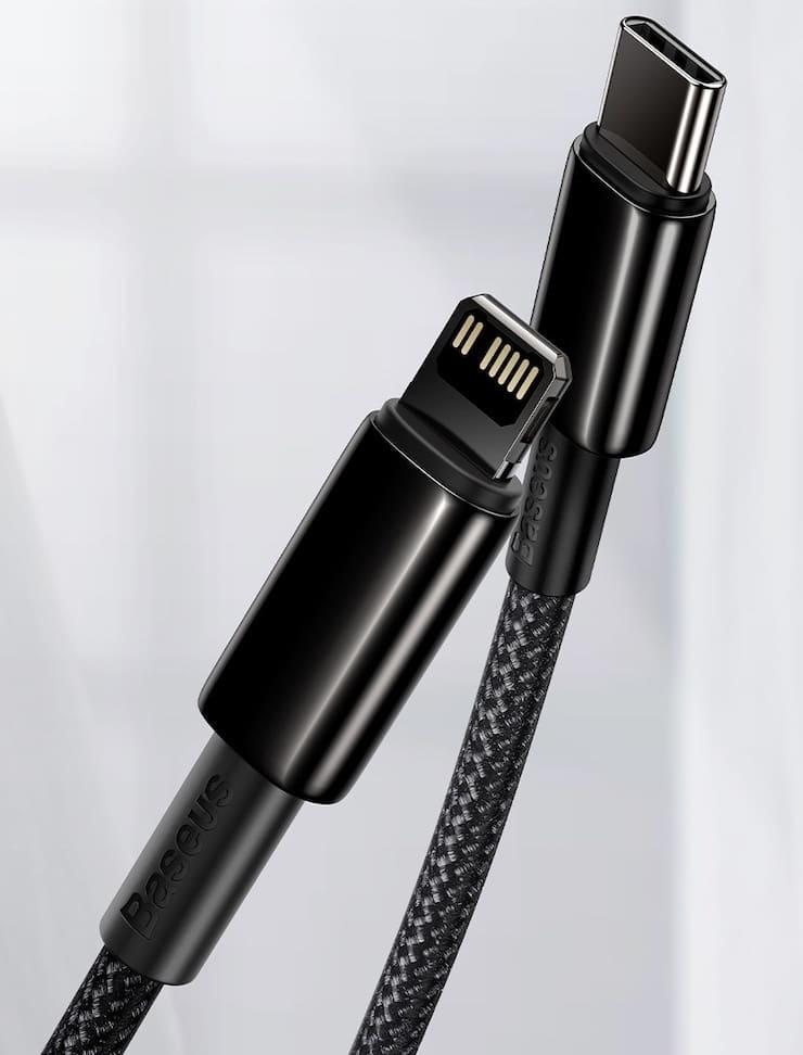 кабель USB-C / Lightning для быстрой зарядки iPhone