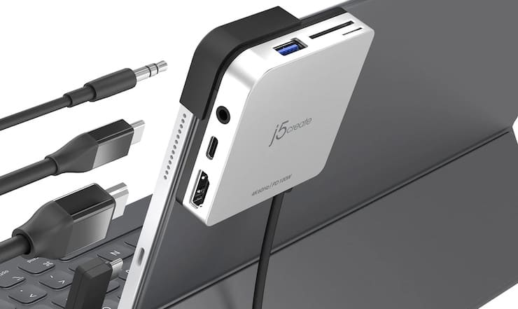j5create JCD612: идеальная док-станция для iPad Pro (11 или 12,9 дюйма)