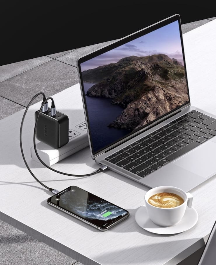 USB-C адаптер питания Ugreen CD224 GaN на 65 Вт