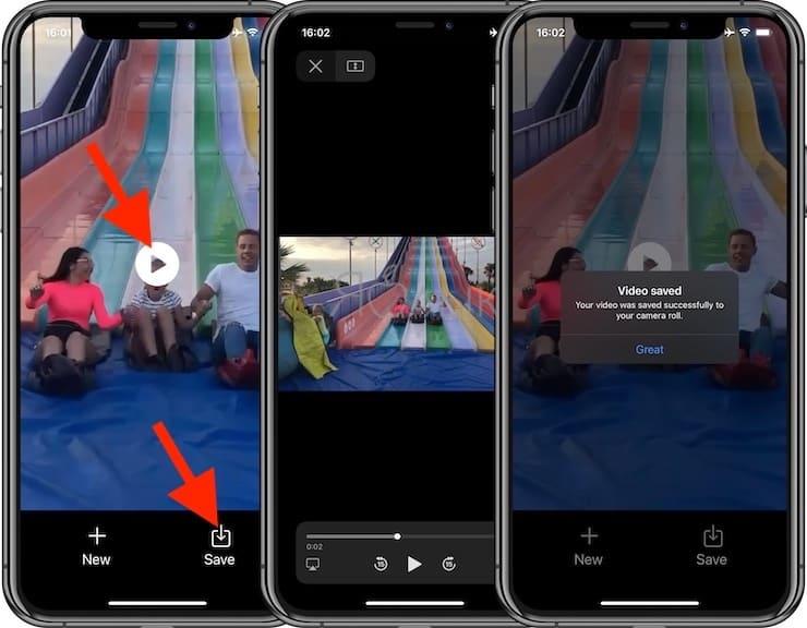Как снимать видео задом наперед на iPhone и iPad