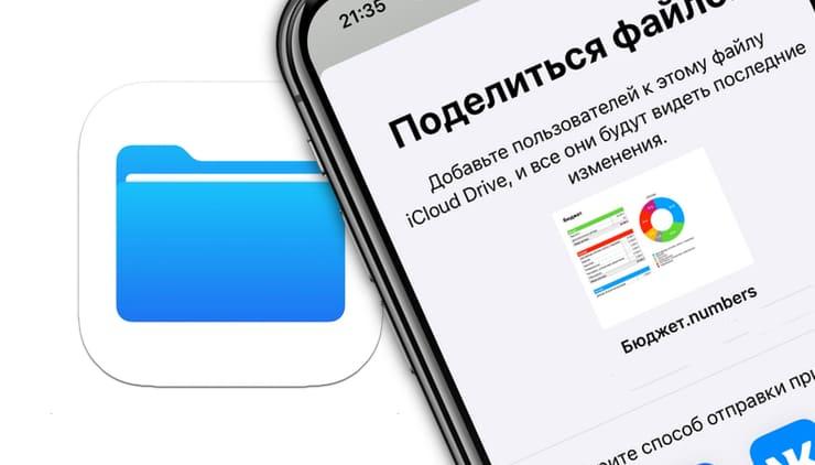 Как делиться документами из приложения Файлы на iPhone или iPad?