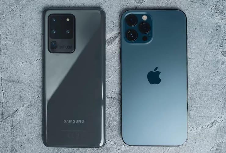 Сравнение Samsung S21 Ultra и iPhone 12 Pro Max