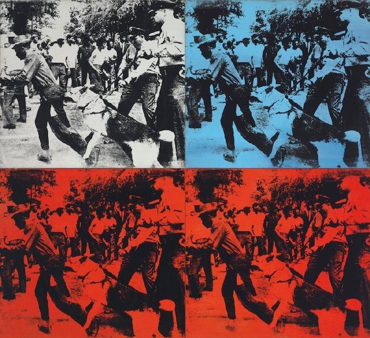 Расовые беспорядки, Энди Уорхол
