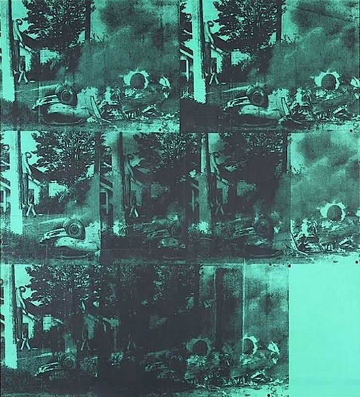 Зелёная горящая машина I (Зеленая автокатастрофа), Энди Уорхол