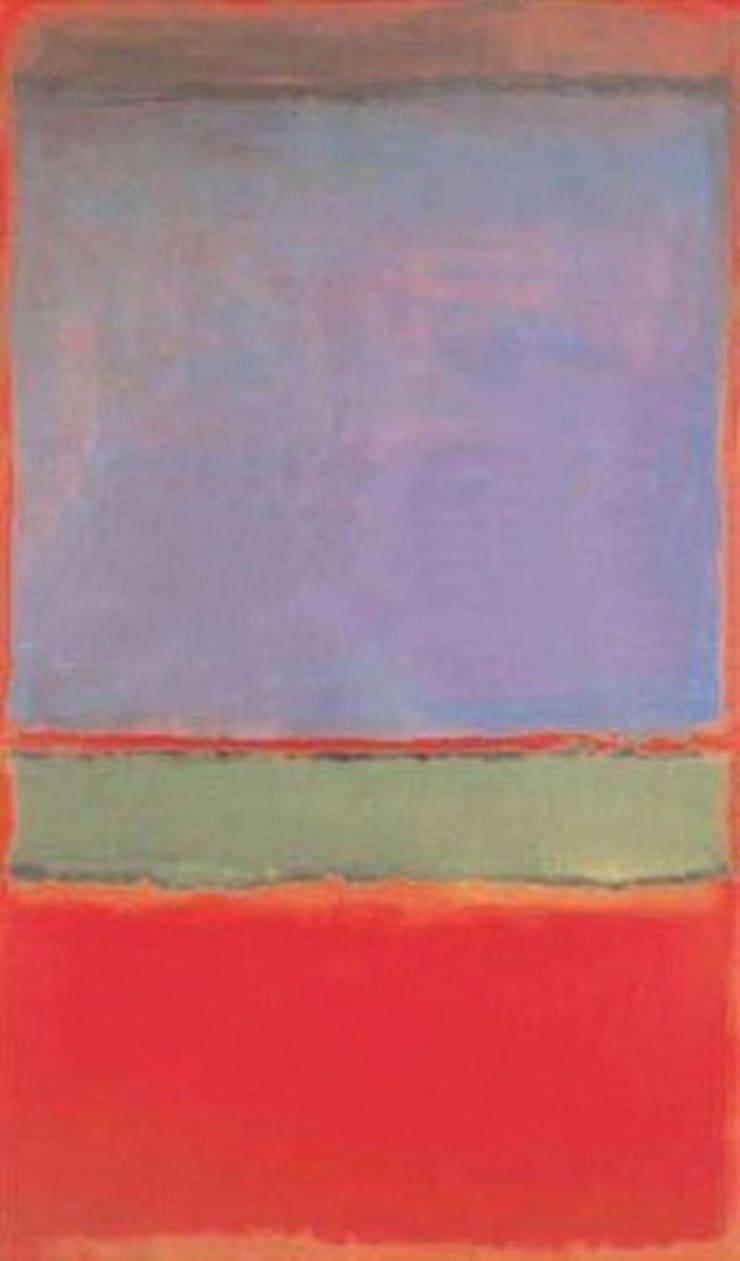 № 6 (Фиолетовое, зелёное и красное), Марк Ротко