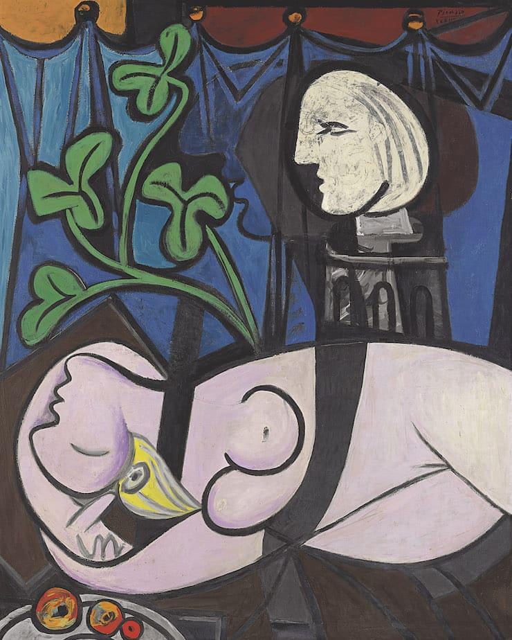 Обнажённая, зелёные листья и бюст, Пабло Пикассо