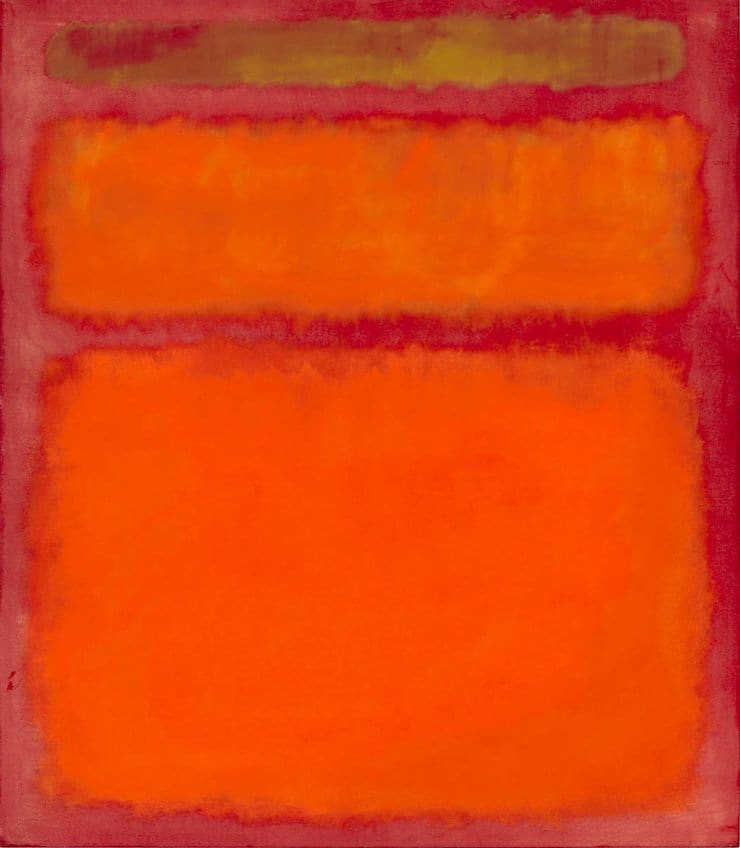 Оранжевый, красный, жёлтый, Марк Ротко