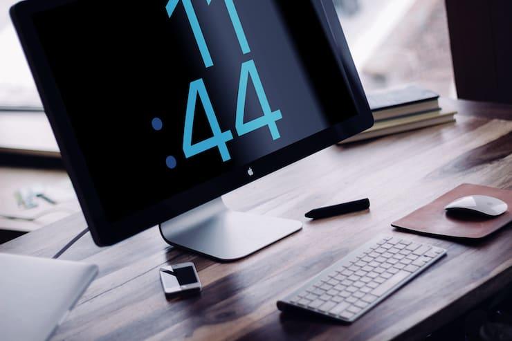 Заставка-скринсейвер на macOS в виде циферблата Apple Watch