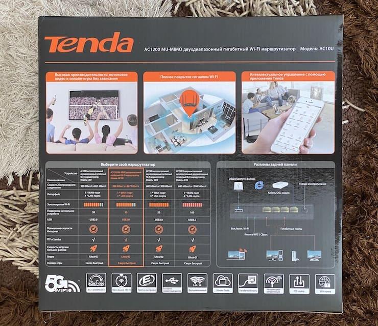 Tenda AC10U delivery set