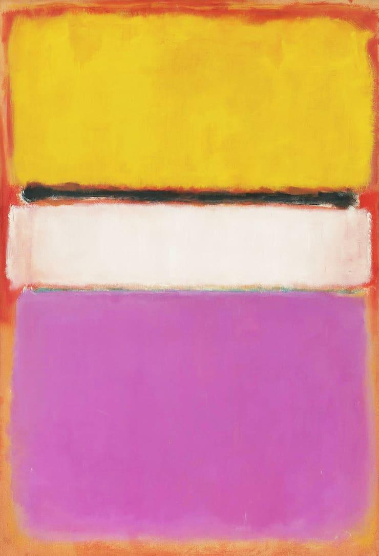 Белый центр (жёлтое, розовое и лиловое на розовом), Марк Ротко