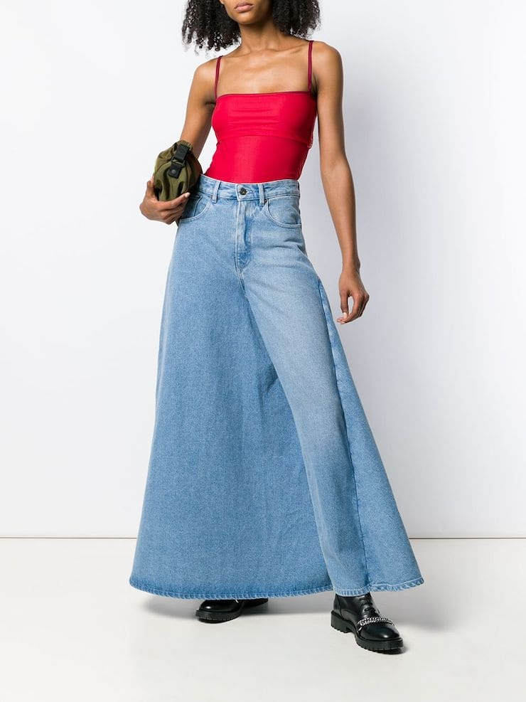 Джинсы «Платье-штаны»