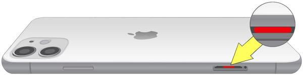 Где находится датчик влаги (воды) на iPhone 11