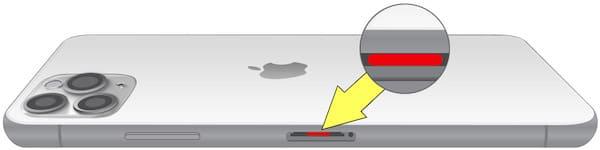 Где находится датчик влаги (воды) на iPhone 11 pro