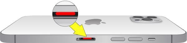 Где находится датчик влаги (воды) на iPhone 12 pro max