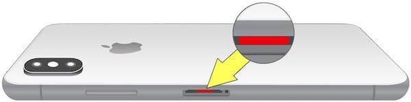 Где находится датчик влаги (воды) на iPhone xs