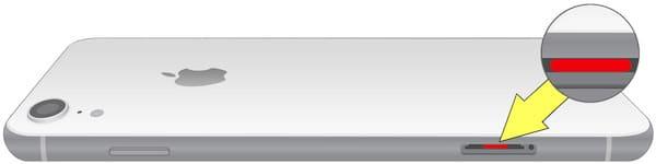 Где находится датчик влаги (воды) на iPhone xr