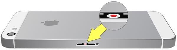 Где находится датчик влаги (воды) на iPhone 5 / 5s