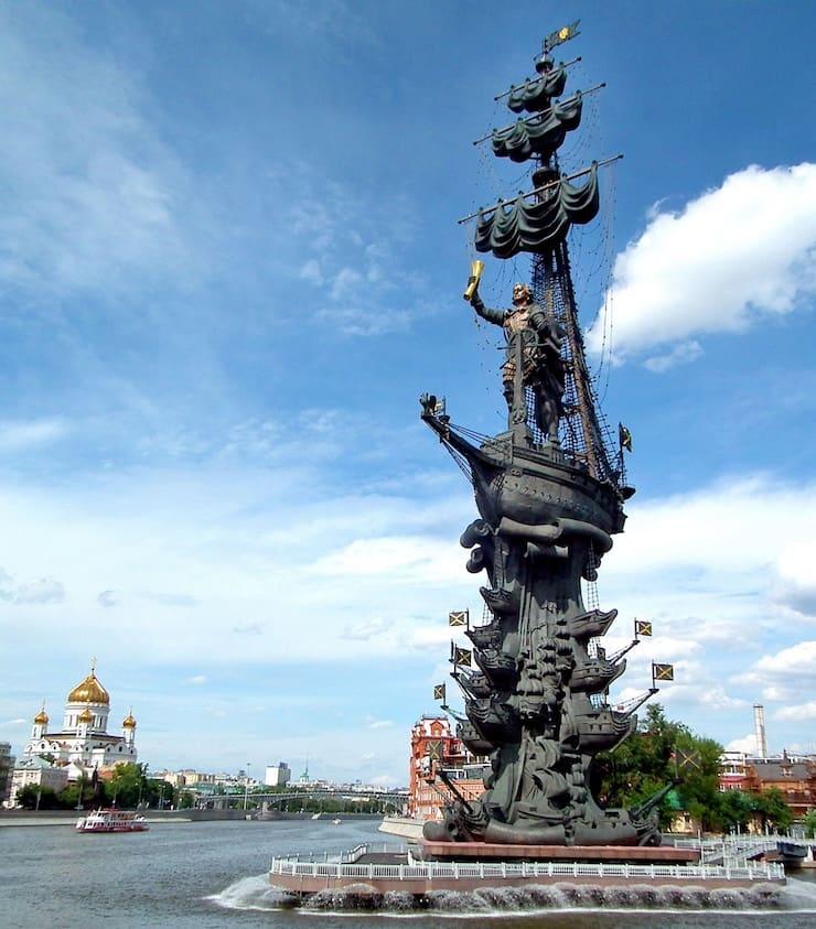 Памятник Петру I, 98 метров, Россия