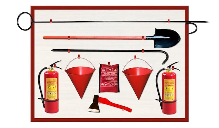 Why are fire buckets tapered?