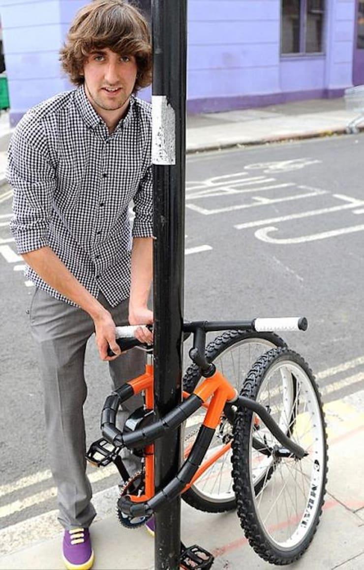Гнущийся противоугонный велосипед Кевина Скотта