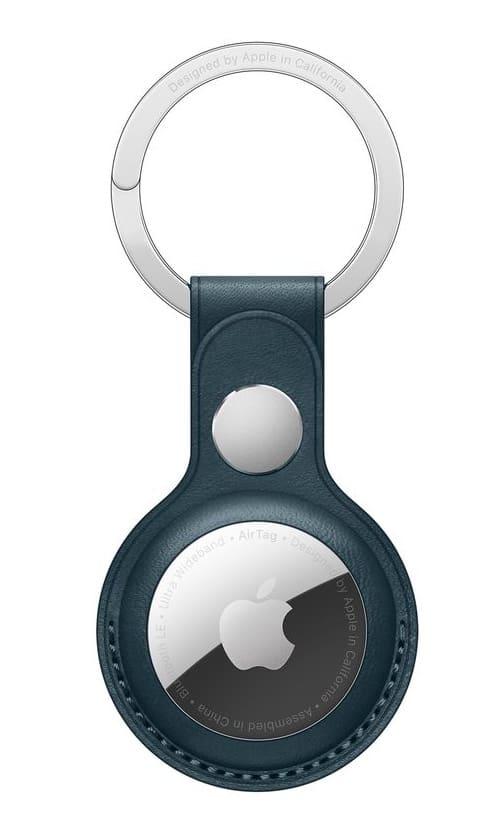 Кожаный брелок для ключей с AirTag