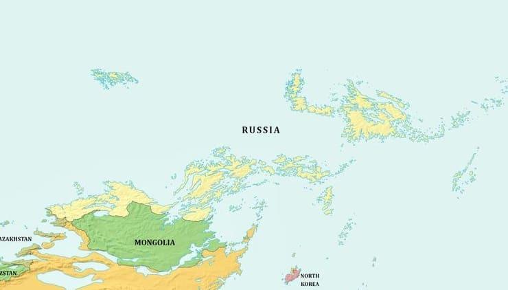 Как станет с Россией, если Мировой океан поднимется или опустится на 1 км (карта)?