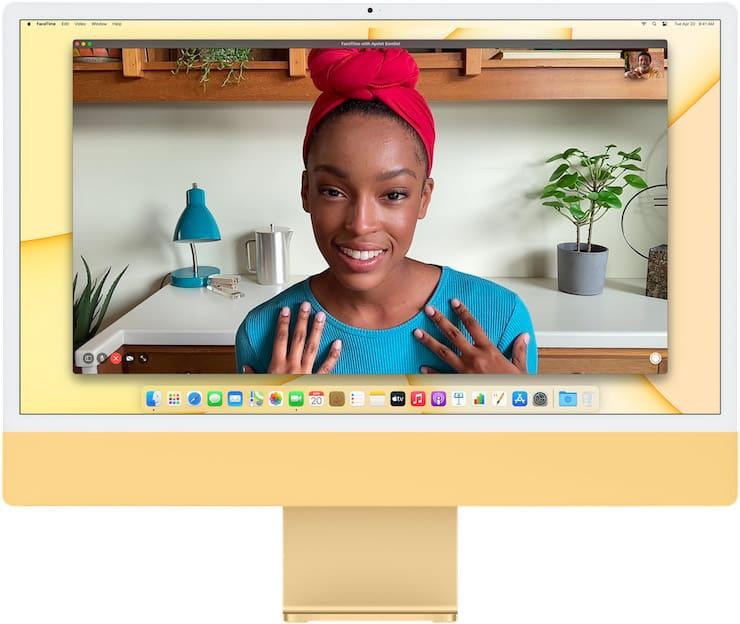 Камера в iMac 2021