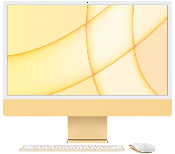 Желтый iMac