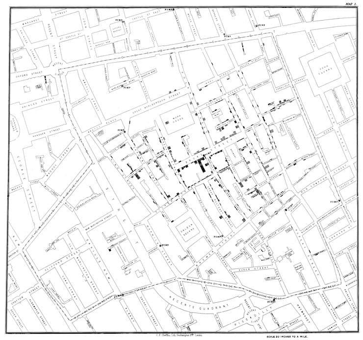 Карта Джона Сноу