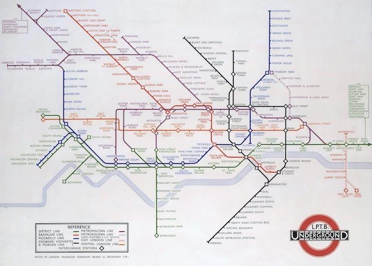 Карта метрополитена Гарри Бека