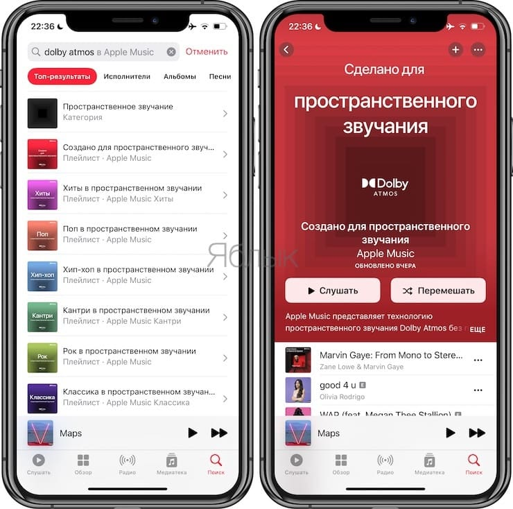 How to search for Spatial Audio music in Apple Music?