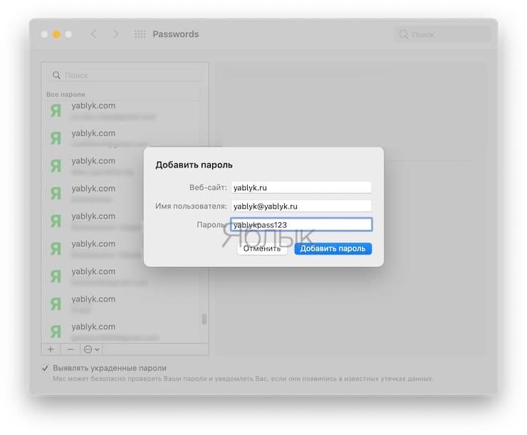 Как посмотреть сохраненные пароли на Mac (macOS) в Менеджере паролей