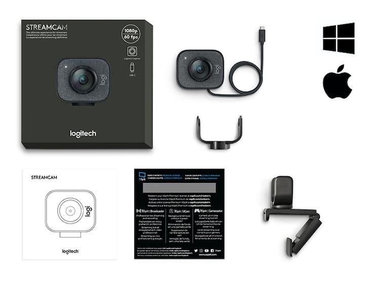 Комплект поставки веб-камеры Logitech StreamCam для стримов