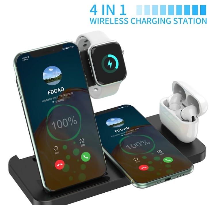 Беспроводная зарядка для iPhone, AirPods и Apple Watch