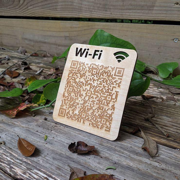 QR Code on Wi-Fi