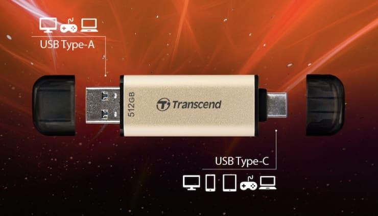 Transcend JetFlash 930C – флешка с USB-С и USB-A с впечатляющей скоростью