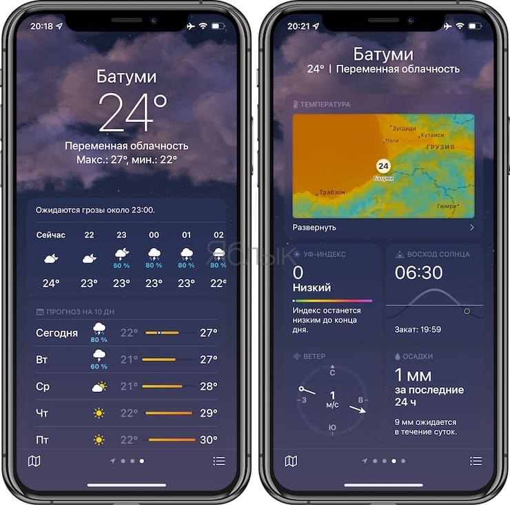 Weather app overview