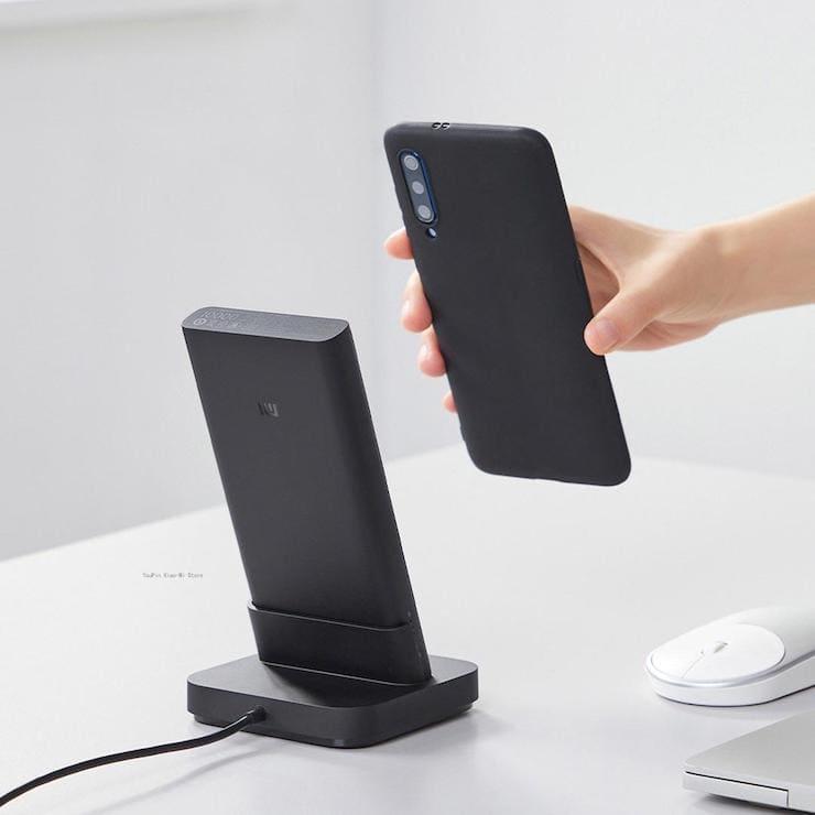 Xiaomi Mi Power Bank 10 000 мАч с вертикальной док-станцией для беспроводной зарядки