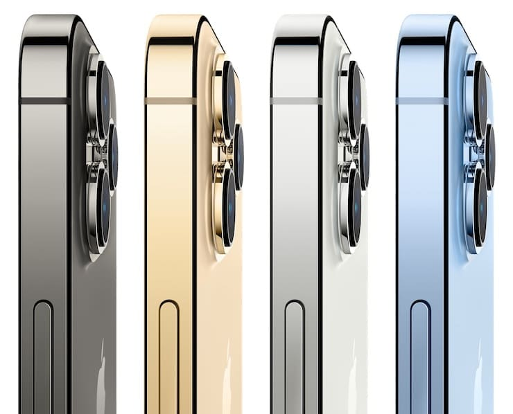 Цвета iPhone 13 Pro и iPhone 13 Pro Max