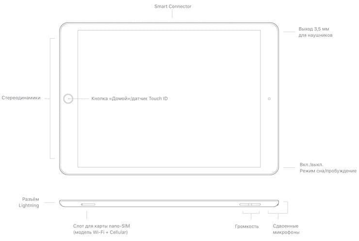 Дизайн iPad 9-го поколения (2021)