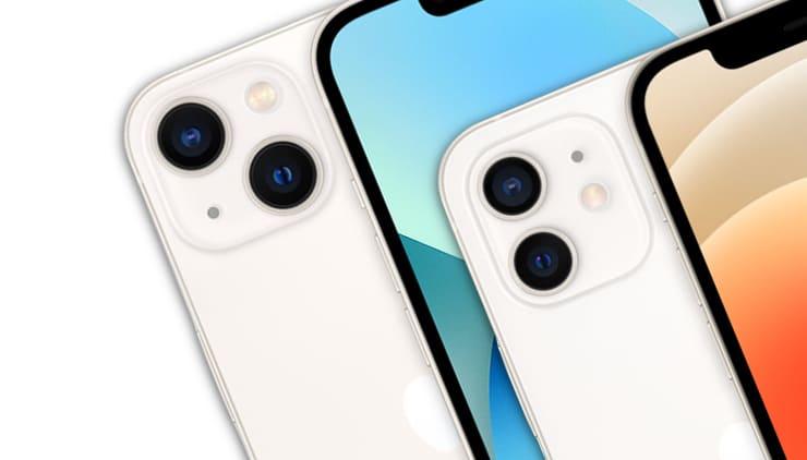 Сравнение iPhone 12 и iPhone 13