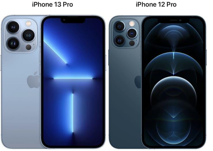 Сравнение размеров iPhone 13 Pro и iPhone 12 Pro