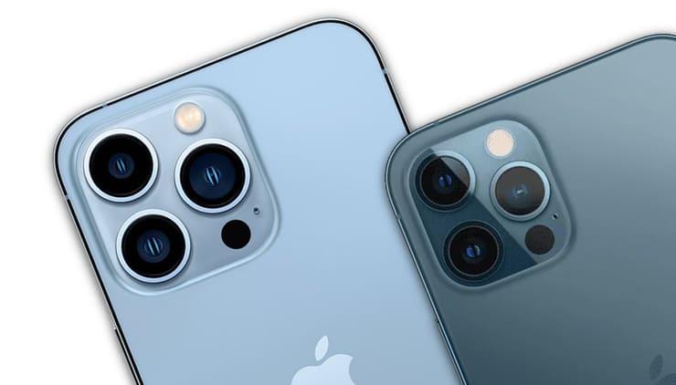 Сравнение iPhone 13 Pro и iPhone 12 Pro