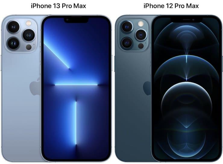 Сравнение размеров iPhone 13 Pro Max и iPhone 12 Pro Max